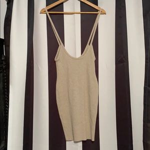 Corduroy suspender stretch pencil dress